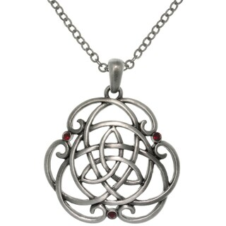 Carolina Glamour Collection Pewter Alloy Trinity Scroll Knot Necklace