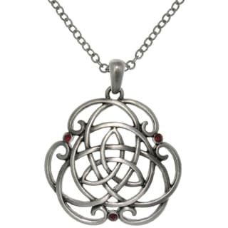 CGC Pewter Alloy Trinity Scroll Knot Necklace