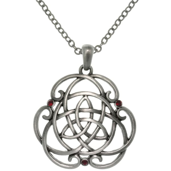 Pewter Alloy Trinity Scroll Knot Necklace 10787891