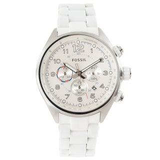 Fossil Men's 'Flight Series' White Chronograph Watch