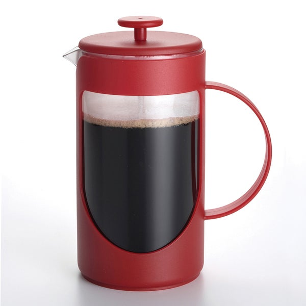 BonJour Coffee Ami-matin 3-cup Red French Press 10787997