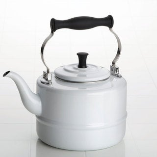 BonJour White Enamel 2-quart Tea Kettle