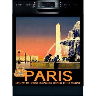 Appliance Art 'See Paris' Vintage Dishwasher Cover