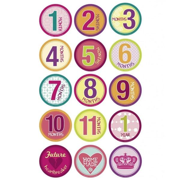 Belly Banter Girl's Growth Sticker Set