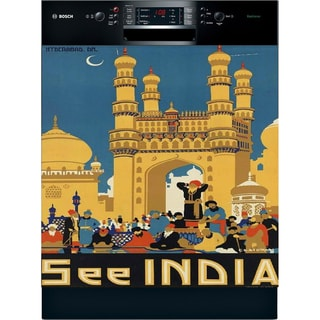 Appliance Art 'See India' Vintage Dishwasher Cover