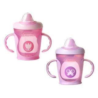 Tommee Tippee Pink Explora Truly Spill Proof Trainer Cup (Pack of 2)