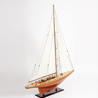 Old Modern Handicrafts Shamrock V Yacht Large Model Ship