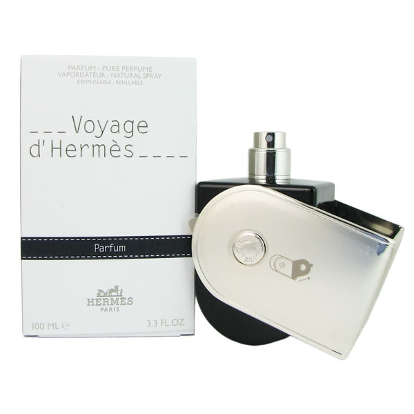 Hermes Voyage DHermes Unisex 3.3-ounce Pure Perfume Spray (Refillable)