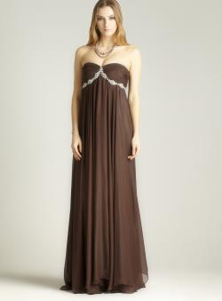 JS Collections Strapless Evening Gown