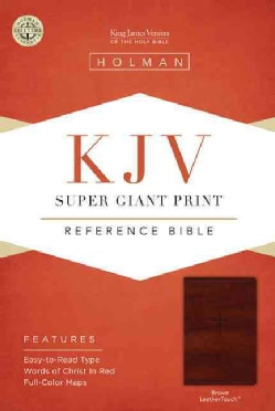 Holy Bible: King James Version, Brown, Leathertouch, Super Giant Print Reference Bible (Paperback)
