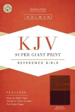 Holy Bible: King James Version, Super Giant Print, Reference, Brown/Tan, Leathertouch (Paperback)