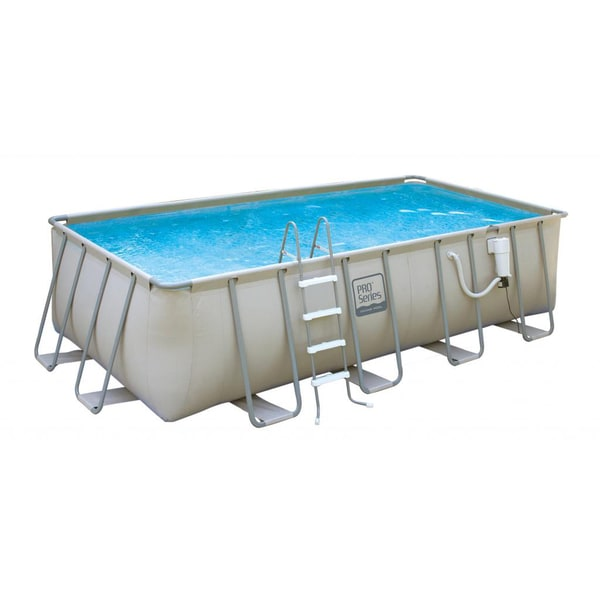 PRO Series 9-ft x 18-ft Rectangular 52-in Deep Metal Frame Swimming Pool Package