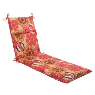 Pillow Perfect 'Sungold' Indoor/ Outdoor Chaise Lounge Cushion