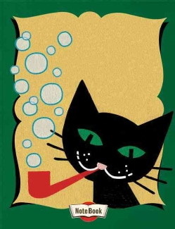 Hello Darling Notebook - Cat Blowing Bubbles (Paperback)