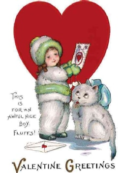 Girl in Snowsuit and Kitty Valentine (Cards)