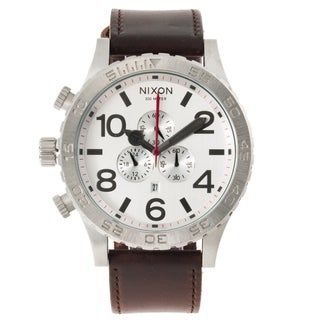 Nixon Men's '51-30 Chrono' Leather Strap Watch