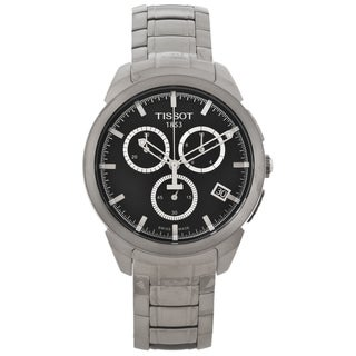 Tissot Men's T0694174405100 Titanium Black Dial Chronograph Watch