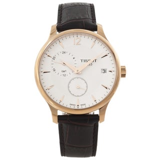 Tissot Men's Rose-goldtone Leather Strap Watch