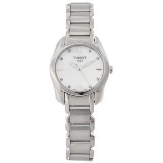 Tissot Women's 'T-Wave' Mother of Pearl Dial Diamond-accented Watch