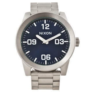 Nixon Men's 'Corporal' Stainless Steel Blue Dial Watch