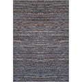 Handwoven Brown Leather Flatweave Rug (8' x 11')