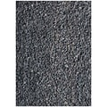 Handwoven Art Leather Black Shaggy Rug (5' x 8')