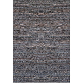Handwoven Brown Leather Flatweave Rug (6' x 9')
