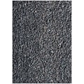 Handwoven Art Leather Black Shaggy Rug (6' x 9')