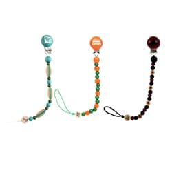Bink Link Surf's Up Pacifier Attachers (Pack of 3)