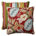 Pillow Perfect 'Beachside' Indoor/ Outdoor Square Throw Pillows (Set of 2)