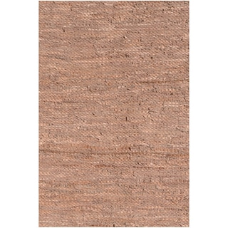 Handwoven Tan Leather Flatweave Rug (5' x 8')