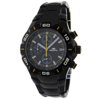 Seapro Men's Classic Black Stainless-Steel Watch