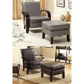 Chai Modern Leatherette Arm Accent Chair with Ottoman