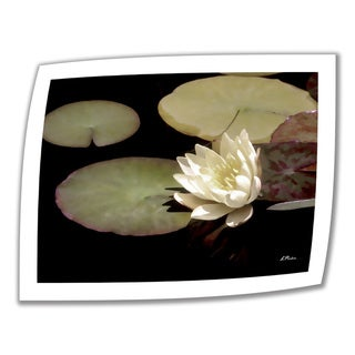 Linda Parker 'Waterlily I' Unwrapped Canvas