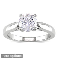 Miadora 14k Gold 1 1/2ct TDW Certified Diamond Engagement Ring (G-H, I1-I2)