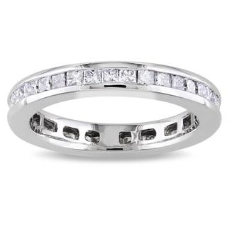 Miadora 14k White Gold 1ct TDW Diamond Eternity Ring (G-H, SI1-SI2)