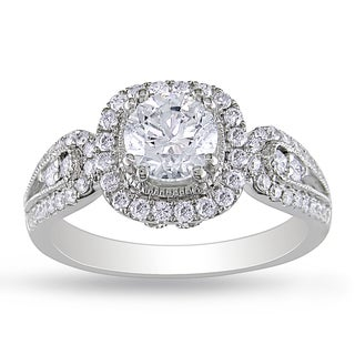 Miadora 14k White Gold 1 1/2ct TDW Diamond Engagement Ring (G-H, I1-I2)