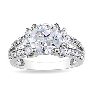 Miadora 14k White Gold 2 5/8ct TDW Diamond Engagement Ring (G-H, I1-I2)