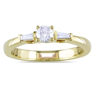 Miadora 10k Yellow Gold 1/3ct TDW Diamond Engagement Ring (H-I, I2-I3)