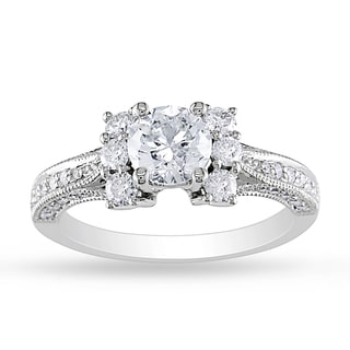 Miadora 14k White Gold 1 3/5ct TDW Diamond Engagement Ring (G-H, I1-I2)