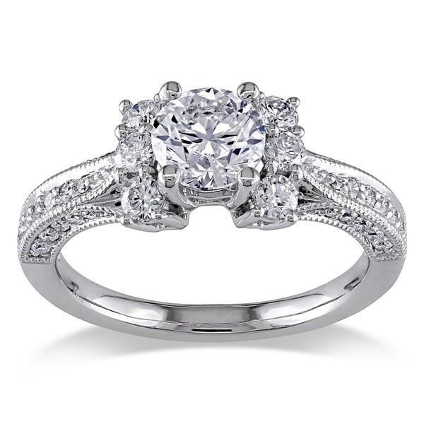 14k White Gold 1 3/5ct TDW Diamond Ring (G-H, I1-I2)