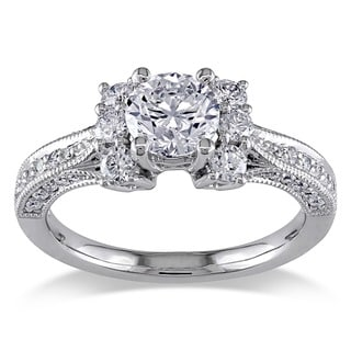 Miadora Signature Collection 14k White Gold 1 3/5ct TDW Diamond Ring (G-H, I1-I2)