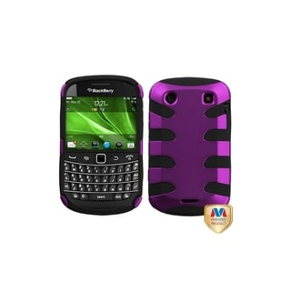 MYBAT Purple/ Black Fishbone Case for Blackberry Bold 9900/ 9930