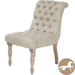 Christopher Knight Home Euro Tufted Beige Fabric Chair