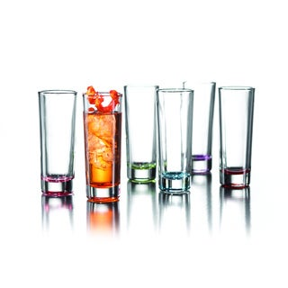 Fifth Avenue Crystal 'Jazz Colors' Shot Glass Set (Set of 6)