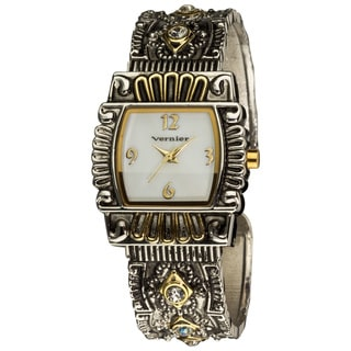 Vernier Women's Classic Antique-look Two-tone Bangle Watch
