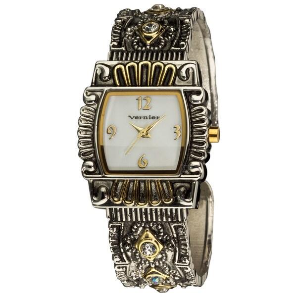 Vernier Women's Classic Antique-look Two-tone Bangle Watch