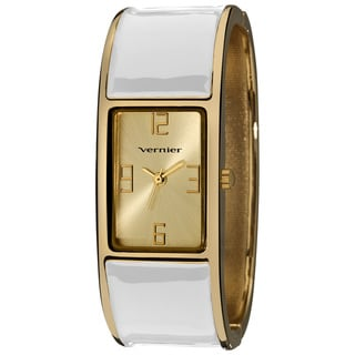 Vernier Ladies Colorful Block White Bangle Fashion Watch