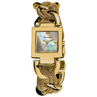 Vernier Ladies Mother of Pearl Dial Chain and Mesh Bracelet Fashion Watch