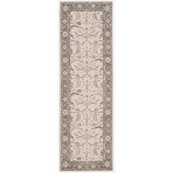 Nourison Beige Wool Runner Rug (2'6 x 8)